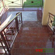 Cầu thang lát đá granite Đỏ Ruby Bình Định