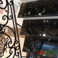 Đá ốp cầu thang đẹp - Cầu Thang Đá Nâu Tây Ban Nha