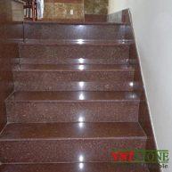 Cầu thang đá hoa cương Đỏ Ruby Ấn Độ