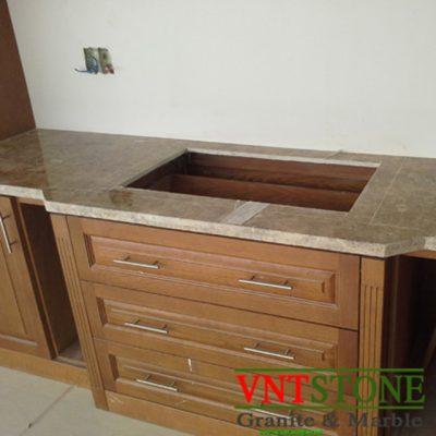 Mặt bàn bếp đá marble Nâu Phần Lan