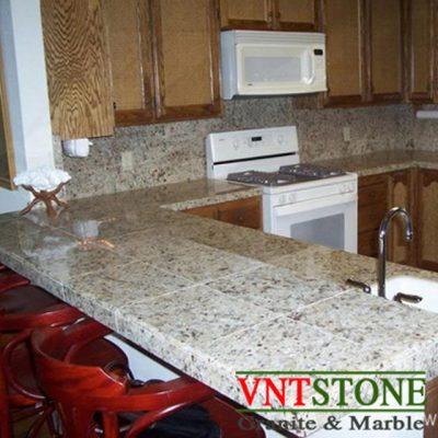 Mặt bàn bếp đá Trắng Ấn Độ - đá ốp mặt bếp
