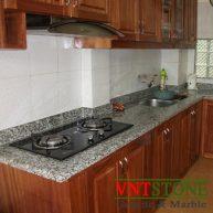 Mặt bàn bếp đá granite Trắng Bình Định