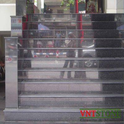 Đá ốp bậc tam cấp - Bậc cấp đá Đen Kim Sa Trung