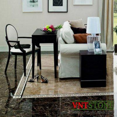 Đá lát sàn phòng khách - Lát sàn đá nâu Tây Ban Nha