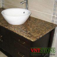 Lavabo đá granite Vàng Bướm