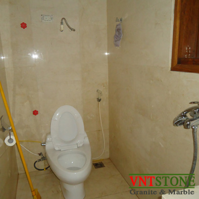 Đá ốp nhà tắm - Ốp tường đá marble Crema Marfil