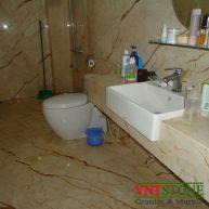 Đá ốp tường phòng tắm đá marble Kem vàng nhiệt đới