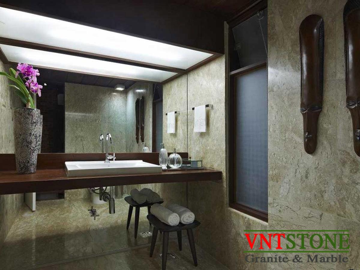 Sử dụng đá tự nhiên cho phòng tắm