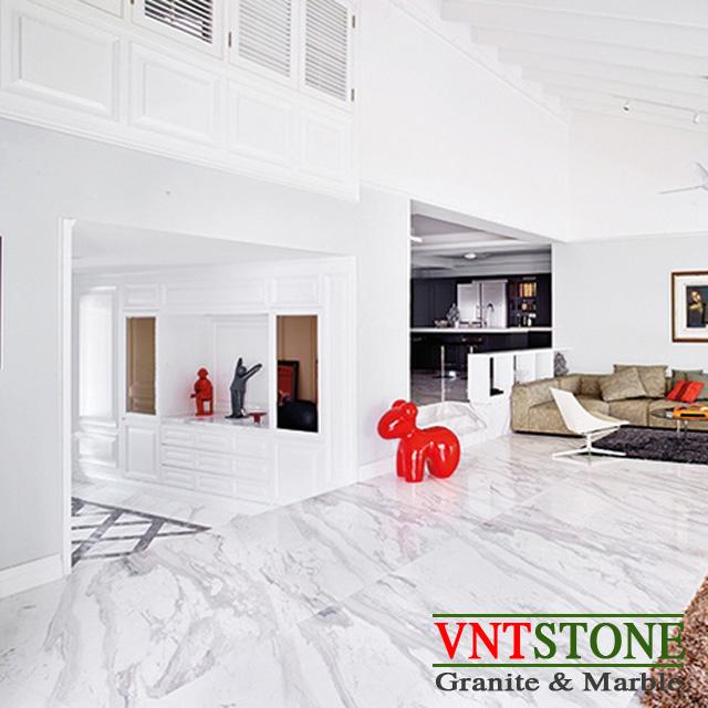 Đá ốp lát - Đá marble trắng lát sàn