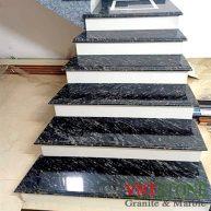 Đá Granite Đen Rừng Ốp Cầu Thang